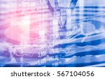 arrows lace on dartboard behind ... | Shutterstock . vector #567104056