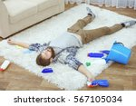 funny young man tired of... | Shutterstock . vector #567105034