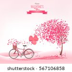 valentine's day background with ... | Shutterstock .eps vector #567106858