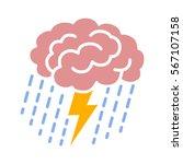 brain brainstorm  ... | Shutterstock .eps vector #567107158
