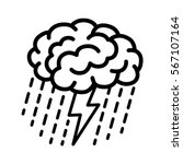 brain brainstorm  ... | Shutterstock .eps vector #567107164