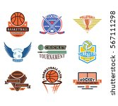 sport team badge vector set. | Shutterstock .eps vector #567111298