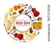 musical instrument banner....   Shutterstock .eps vector #567115018