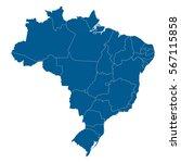 map of brazil | Shutterstock .eps vector #567115858