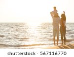 happy young family have fun on... | Shutterstock . vector #567116770