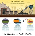 coal mining industry and... | Shutterstock .eps vector #567119680