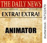 animator  newspaper article text