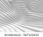 White Stripe Waves Pattern...