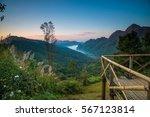 beautiful morning at doi ang... | Shutterstock . vector #567123814