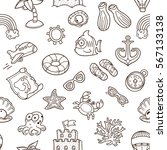 cute seamless pattern with... | Shutterstock .eps vector #567133138