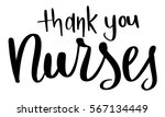 thank you nurses text hand... | Shutterstock .eps vector #567134449