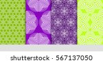 set of seamless decorative...   Shutterstock .eps vector #567137050