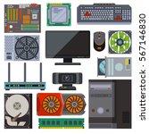 set of various electronics...