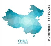 china map   blue geometric... | Shutterstock .eps vector #567147268