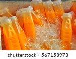 orange juice bottles | Shutterstock . vector #567153973