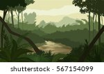 river in the jungle | Shutterstock .eps vector #567154099