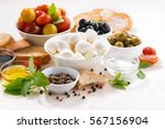 fresh ingredients for salad... | Shutterstock . vector #567156904