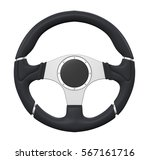 steering wheel isolated. 3d... | Shutterstock . vector #567161716