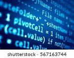 software developer programming... | Shutterstock . vector #567163744