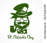saint patricks day hipster... | Shutterstock .eps vector #567166189