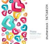 valentines day vector vertical... | Shutterstock .eps vector #567168154