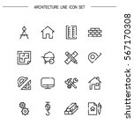 architecture flat icon set.... | Shutterstock .eps vector #567170308
