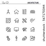 architecture flat icon set.... | Shutterstock .eps vector #567170344