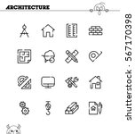 architecture flat icon set.... | Shutterstock .eps vector #567170398