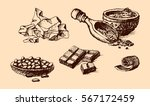 vector cocoa hand drawn sketch... | Shutterstock .eps vector #567172459