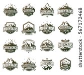mountain logo vector icons set... | Shutterstock .eps vector #567172468