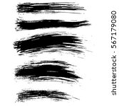 black ink vector brush strokes... | Shutterstock .eps vector #567179080