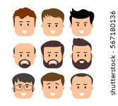 men male human face head hair... | Shutterstock .eps vector #567180136