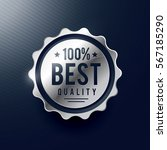 best quality silver badge label ... | Shutterstock .eps vector #567185290