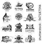 set of vector badges  stickers... | Shutterstock .eps vector #567187546