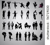 set of vector silhouette | Shutterstock .eps vector #56719030