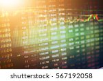 Small photo of Stock market digital graph chart, Stock market data on LED display concept. A large display of daily stock market price and quotation.