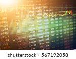 stock market data on led... | Shutterstock . vector #567192058