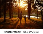 mom playing with her child...   Shutterstock . vector #567192913