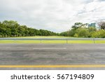 side view of asphalt road with... | Shutterstock . vector #567194809