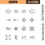 arrow flat icon set. collection ... | Shutterstock .eps vector #567198349