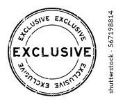 grunge black exclusive round... | Shutterstock .eps vector #567198814