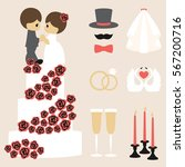 vector illustration of wedding...   Shutterstock .eps vector #567200716