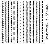 chain black line silhouette set ...   Shutterstock .eps vector #567200866