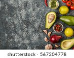 fresh vegetables for cooking on ... | Shutterstock . vector #567204778