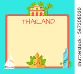 thailand touristic banner with... | Shutterstock .eps vector #567208030