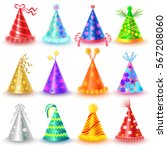 festive caps collection for... | Shutterstock .eps vector #567208060