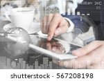 modern technology concept. man... | Shutterstock . vector #567208198