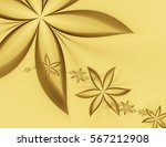 Abstract Stars  Flowers On A...