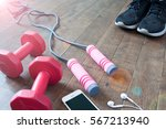 fitness equipment and... | Shutterstock . vector #567213940