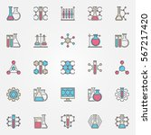 chemical colorful icons. vector ... | Shutterstock .eps vector #567217420
